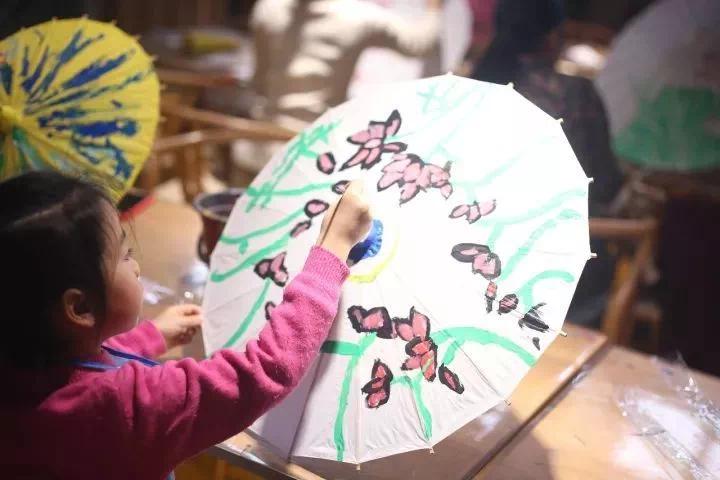 奥特莱斯・澜铂湾手绘油纸伞DIY与你相约浪漫春天!