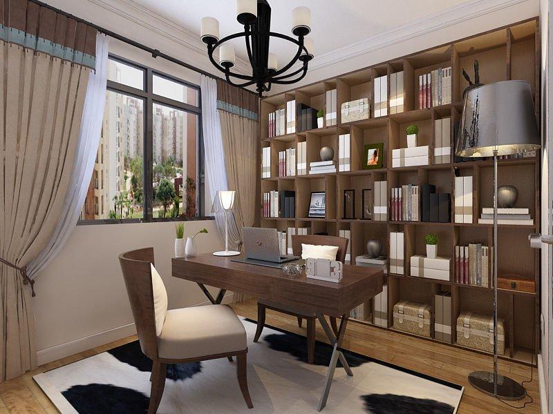书房能改成图书馆吗?欣赏这套别墅房子装修设计,大开眼界