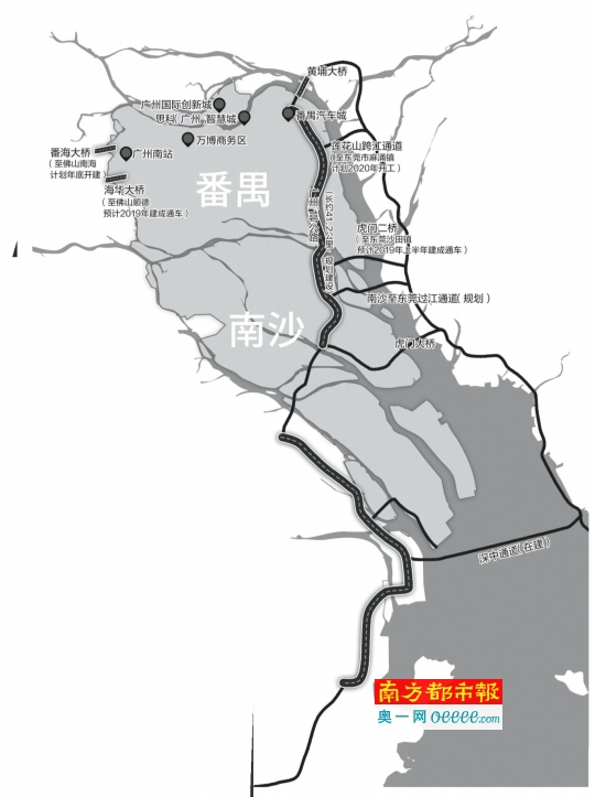广州南部交通发展的步伐在加快:一路联湾区 四桥通莞佛