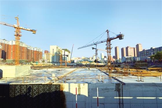 市城区顺城公园建设项目正在加紧施工