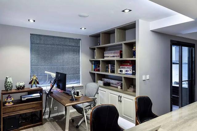 成都120平三房装修效果图 客厅书房融为一体 矮墙沙发真漂亮|装修小常识-辽宁林凤装饰装修工程有限公司抚顺分公司
