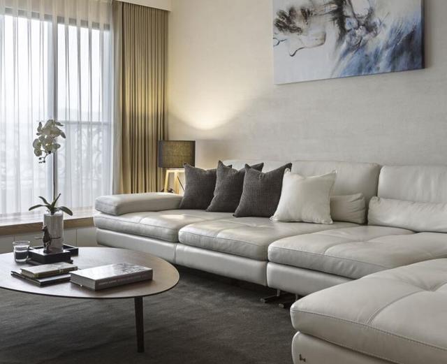 成都高新區現代簡約風樣板房 清風徐來簡潔舒適