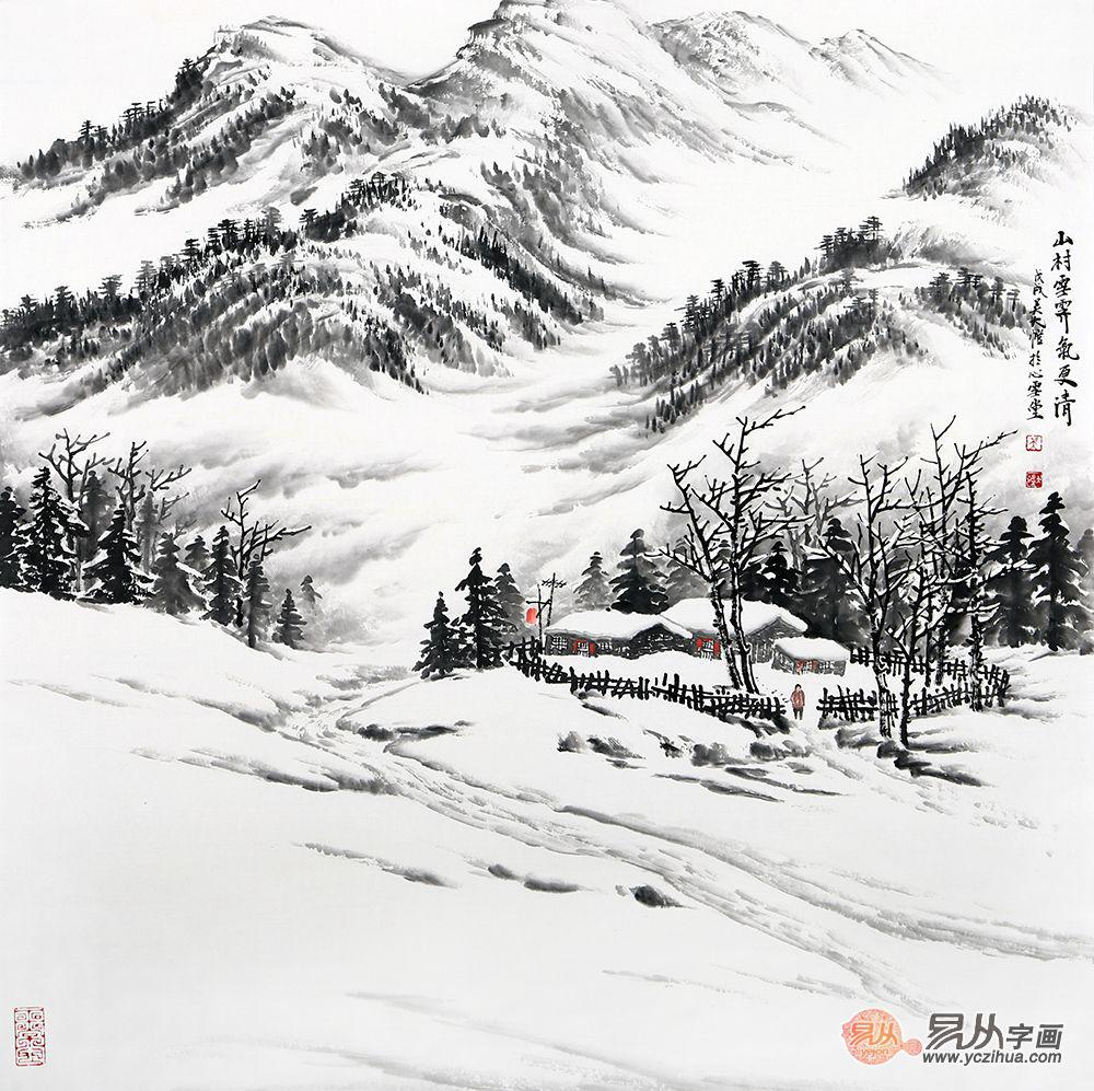当代画家吴大恺的水墨山水画,幽雅恬静、禅意山水