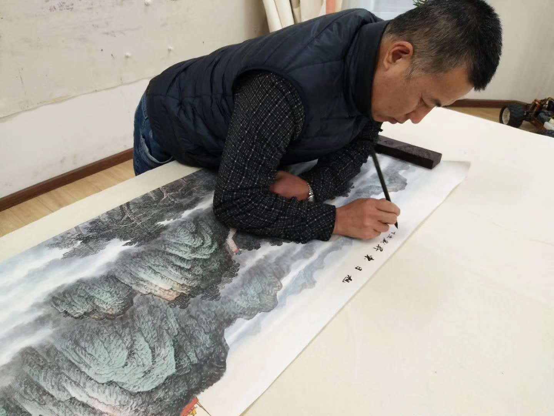 小户型客厅装饰画系列,当代名家斗方国画山水画欣赏