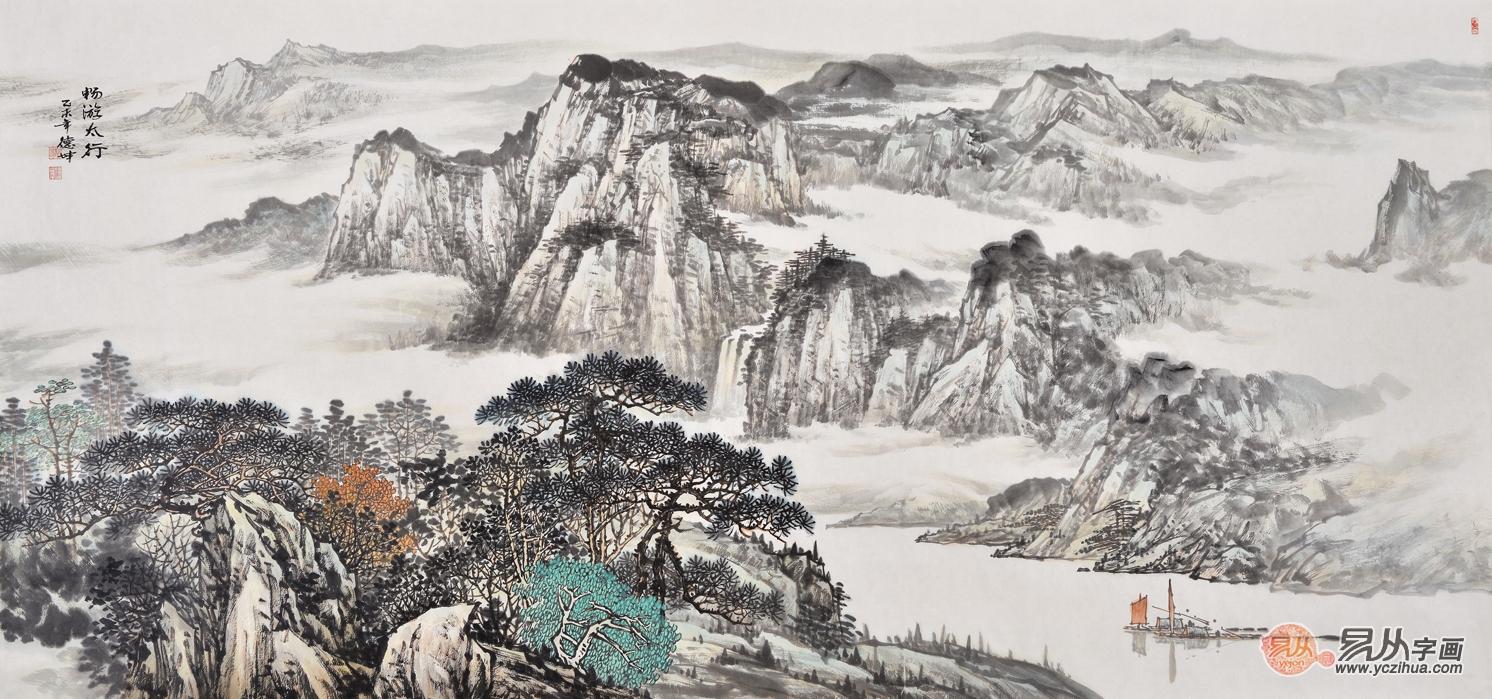 名家字画提升家居美感,中式家居之中就该搭配这样的字画