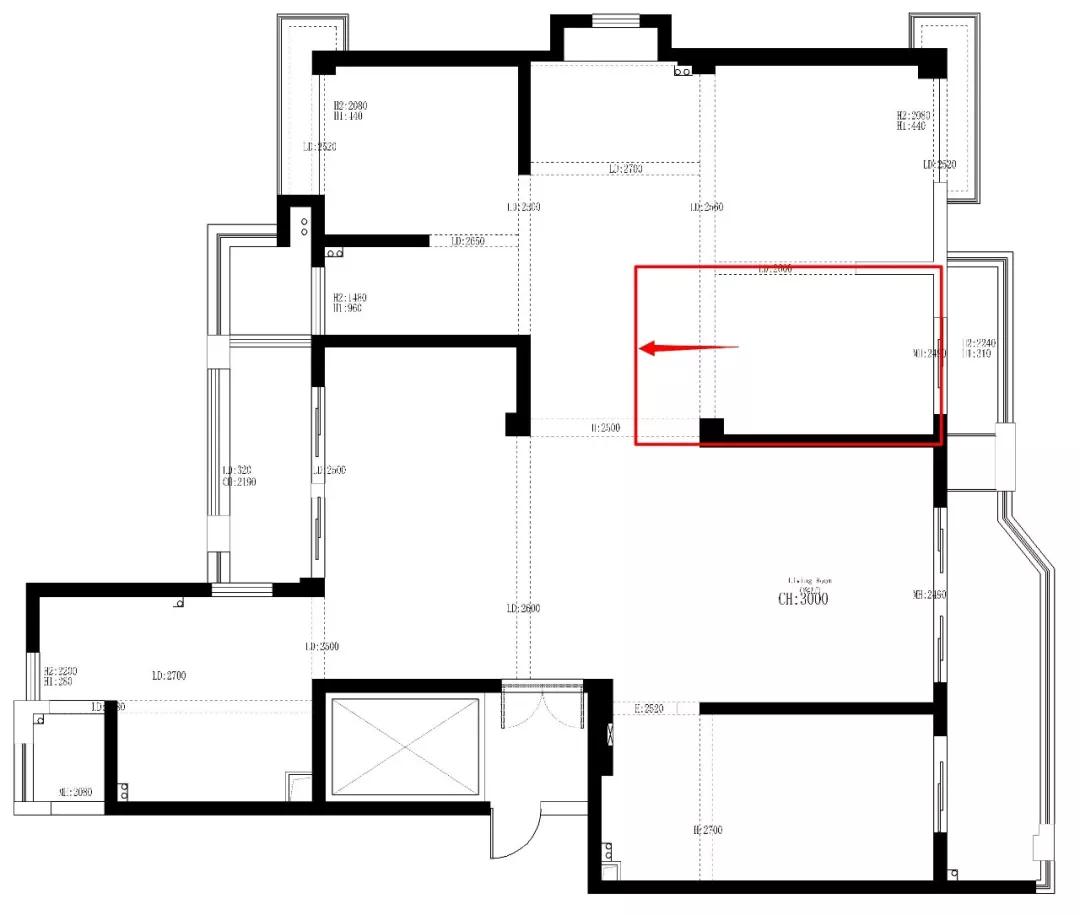 190平大空间户型重改,打造低调完美的舒适生活 装修 第5张