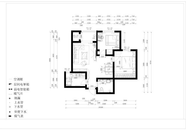 芜湖信德半岛86㎡现代简约风格两居室案例