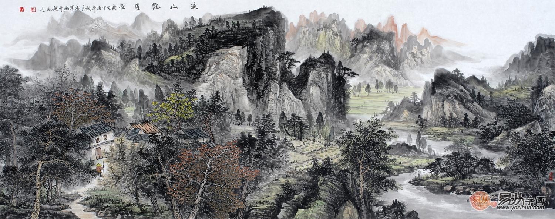 灵川出了个龙志军,当代实力派画家龙志军山水画