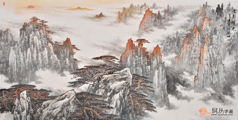 在办公室挂画,这几款山水画让您倍有面儿!