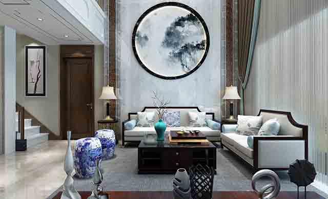 复式别墅设计,中式风格——别墅装修设计