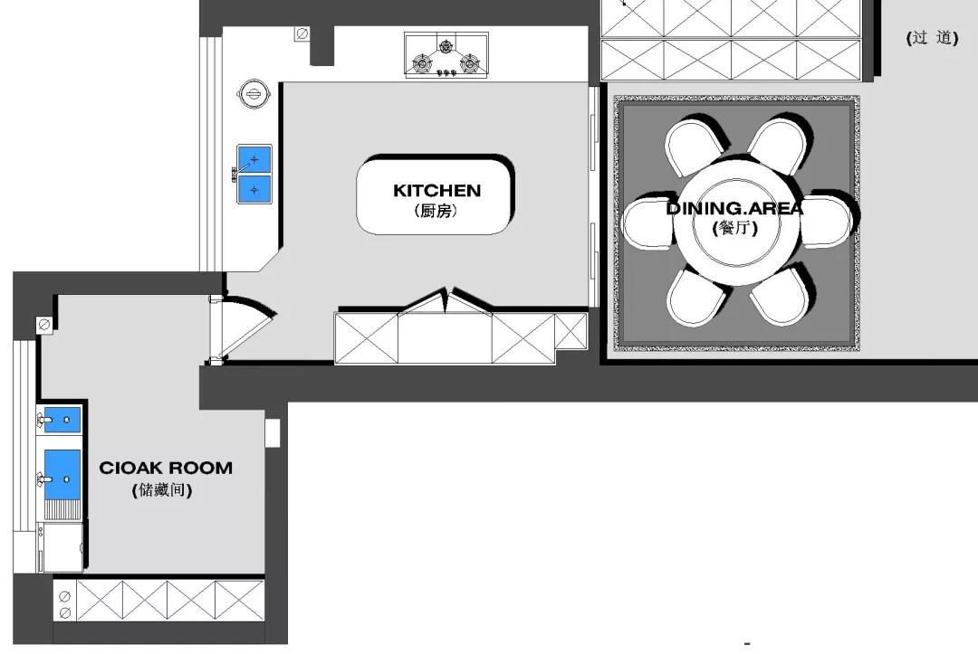 180m²中欧混搭的房子,古典、高贵、优雅,最终回归平静 混搭 第18张