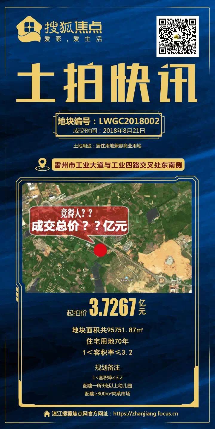 上周湛江商品房网签216套,雷州2宗地块将拍出,起拍价约6亿