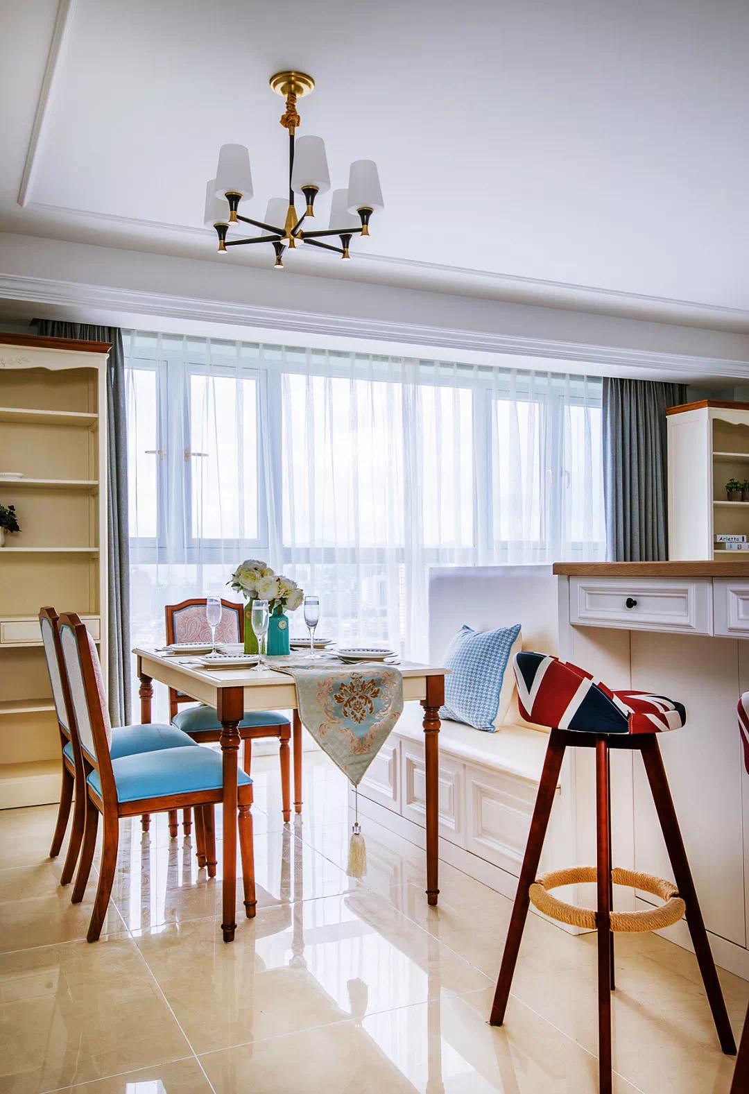 100平米三室一厅,吧台、书房和储物空间,一个都不能少! 装修 第7张