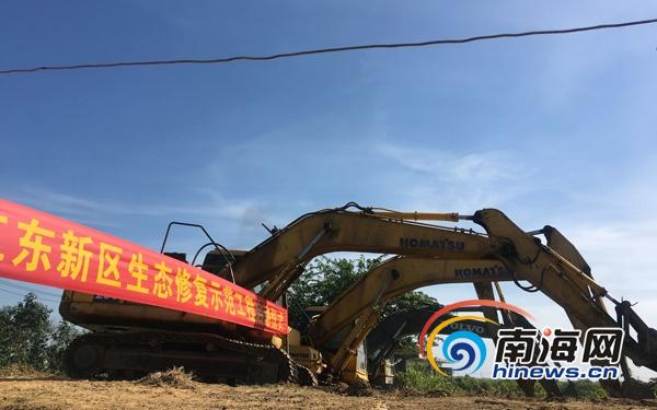 投入1.7億元 海口江東新區首個生態修復工程動工
