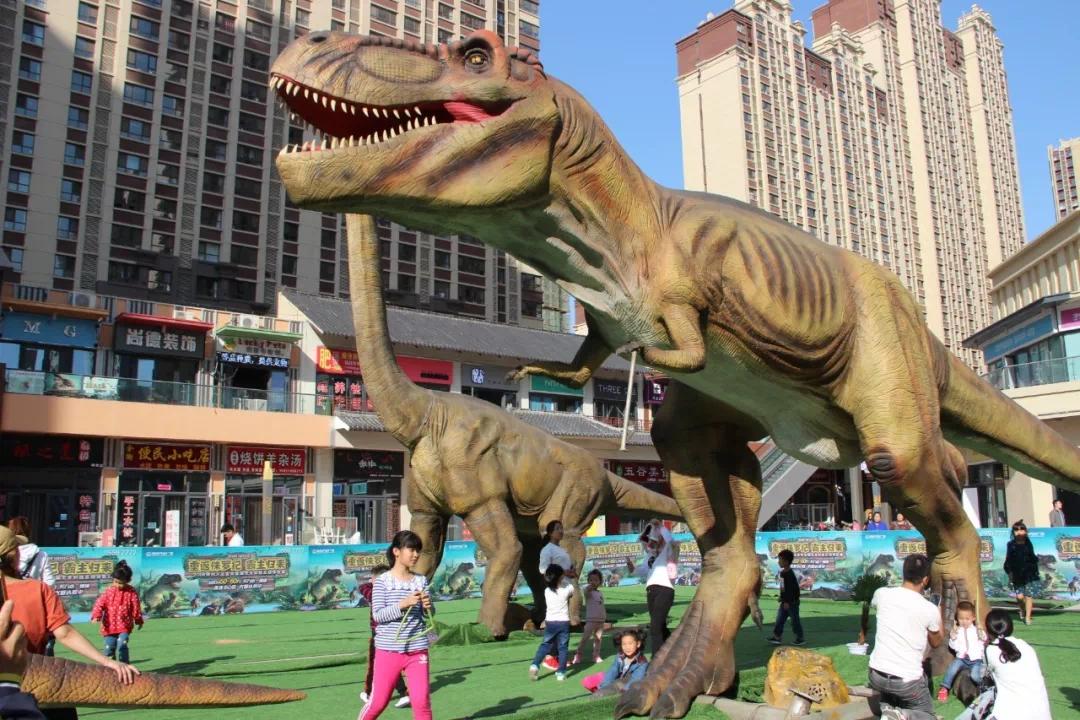 """恐龙来啦~~德州万达金街""""侏罗纪恐龙展""""完美落幕~"""