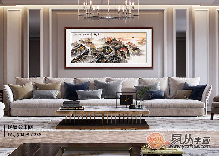 客厅沙发墙挂画,这四大点影响画的尺寸