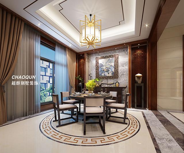 新中式风格设计案例——前洲自建别墅