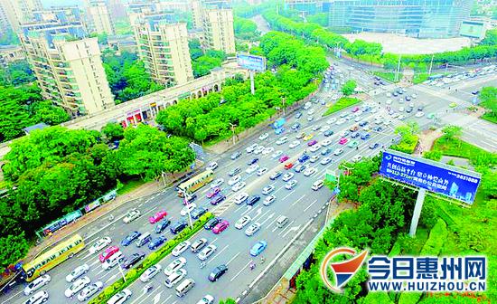 惠州大道惠民大道部分路段今起严管 10月1日正式开罚