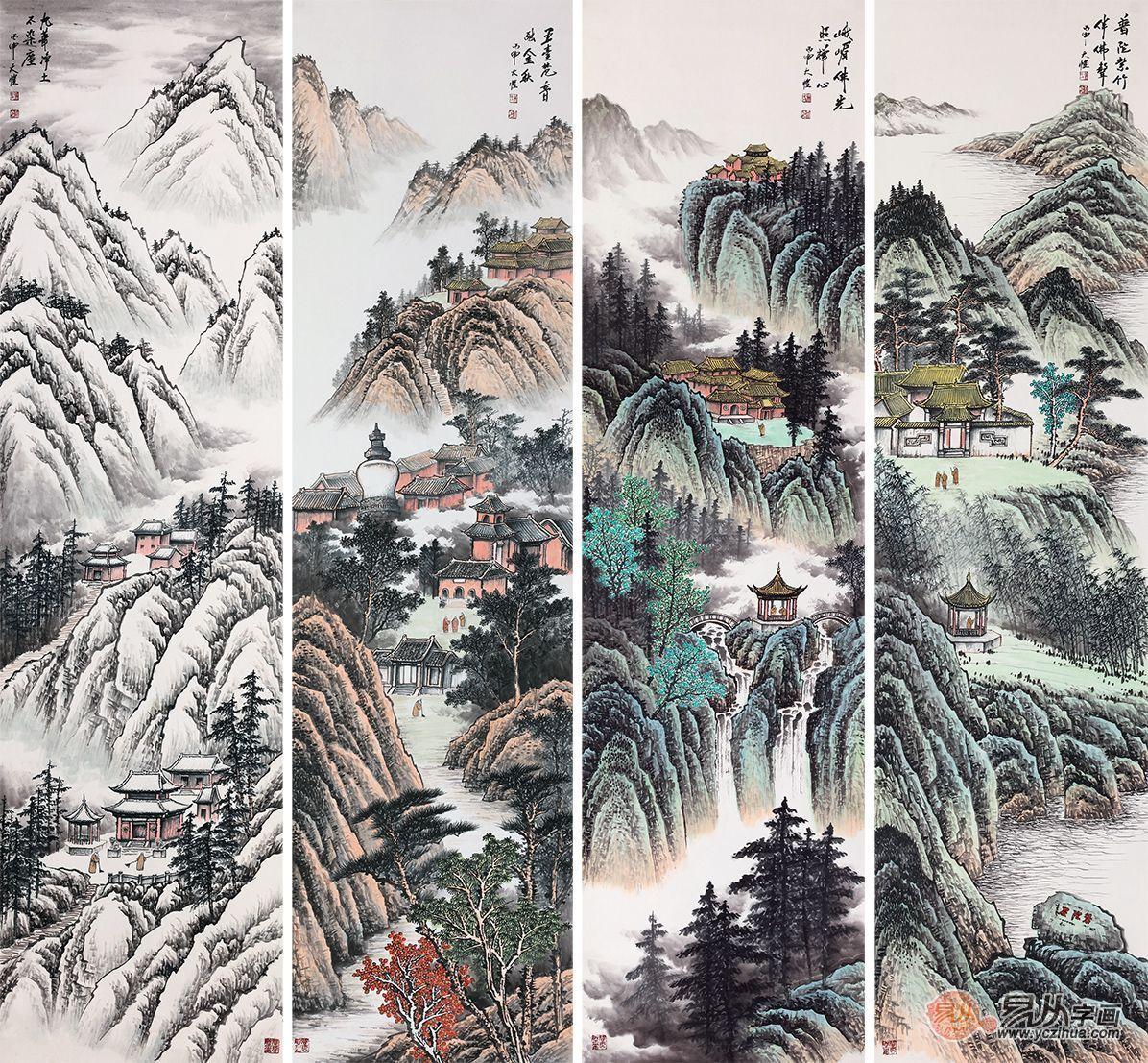 就这么一幅中堂挂画,却颠覆了我对传统山水画的看法