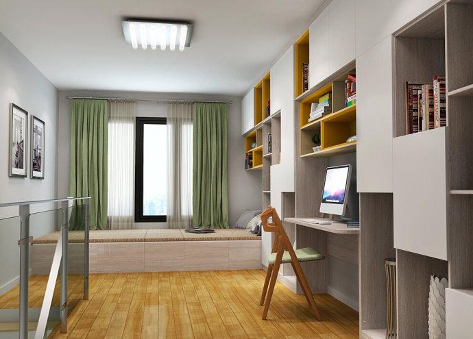 吉林市榻榻米书桌书柜组合打造的舒适空间!