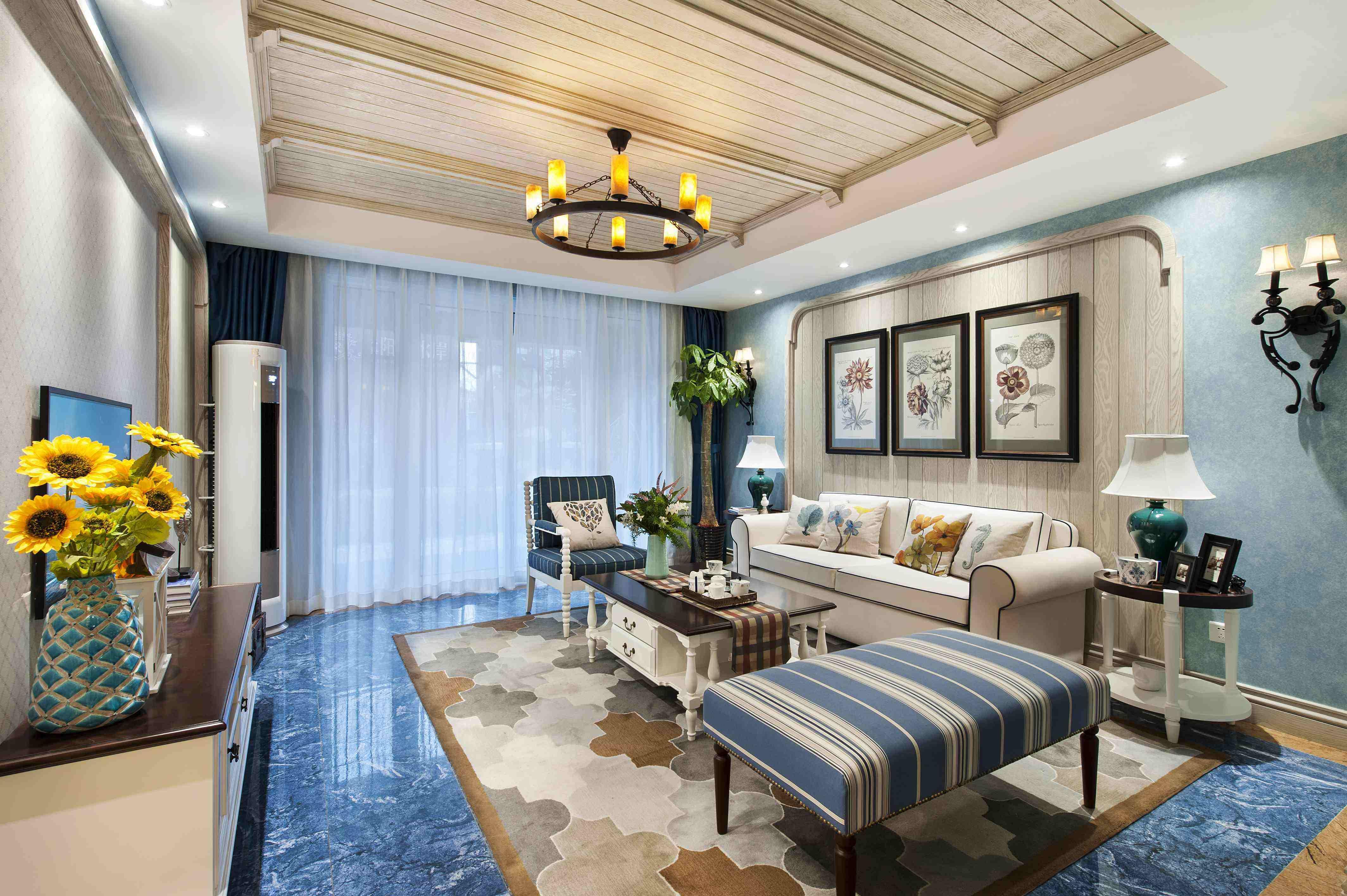 地中海室内装饰,纯美的色彩设计方案