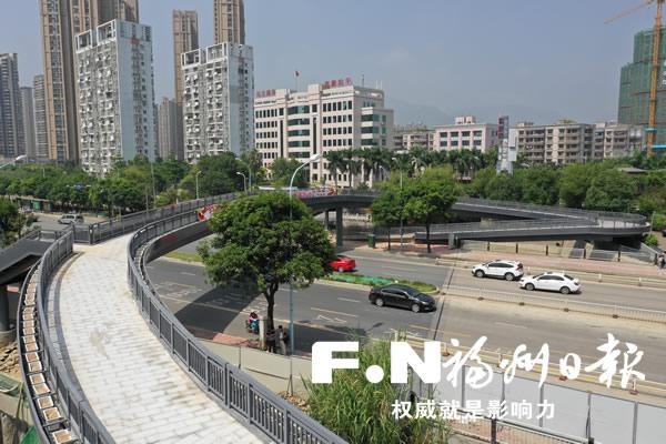 磐石人行天桥国庆前开放 秀峰路新增立体过街通道