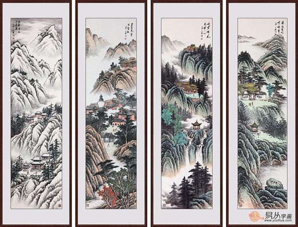 吴大恺这几幅画,很适合中式家居