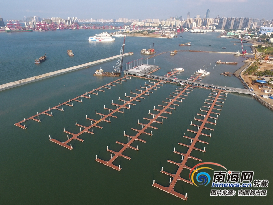 海口國家帆船帆板基地碼頭加速建設 將建610個泊位