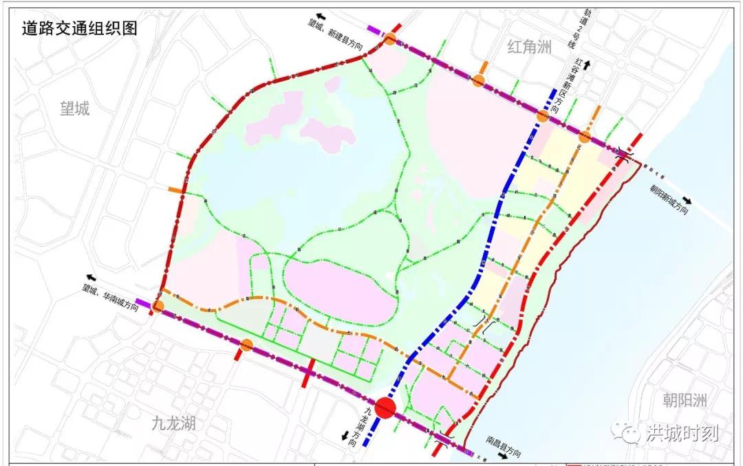红角洲沿江片区控规调整!新增大型商务用地!岭北站规划为换乘站
