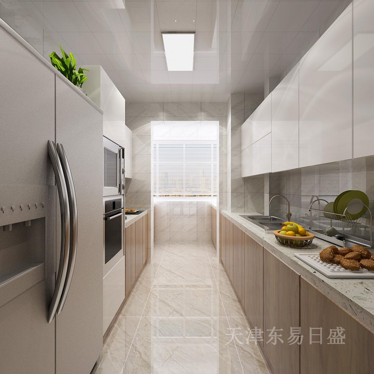 120平现代风格两室效果图,重视设计实施时的科学性与方便性
