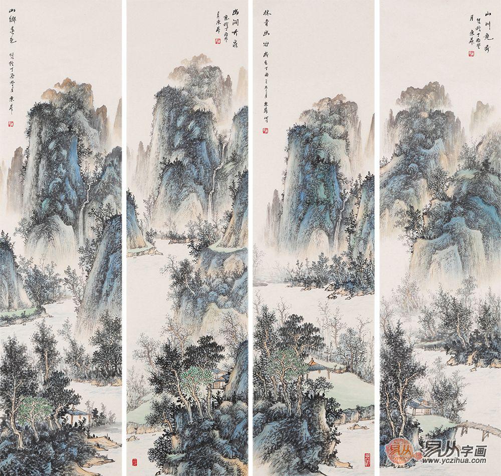 中美协会员赵洪霞,大气磅礴的经典山水画欣赏