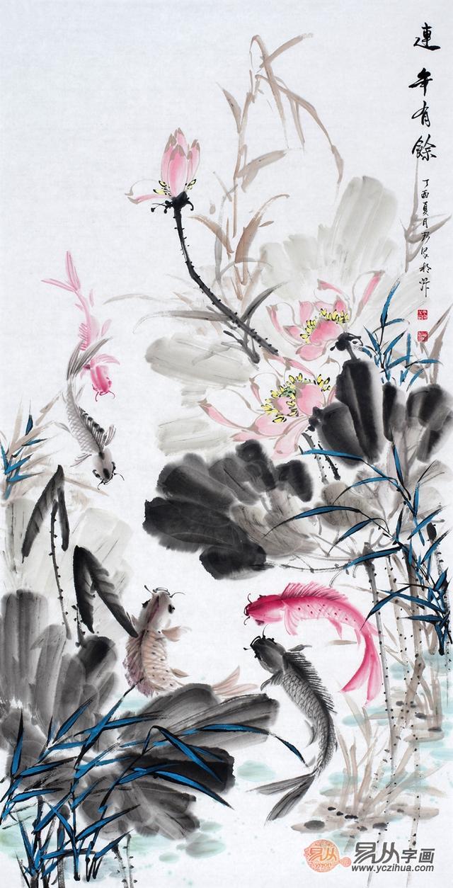 玄关装修设计效果图,经典的花鸟画受欢迎