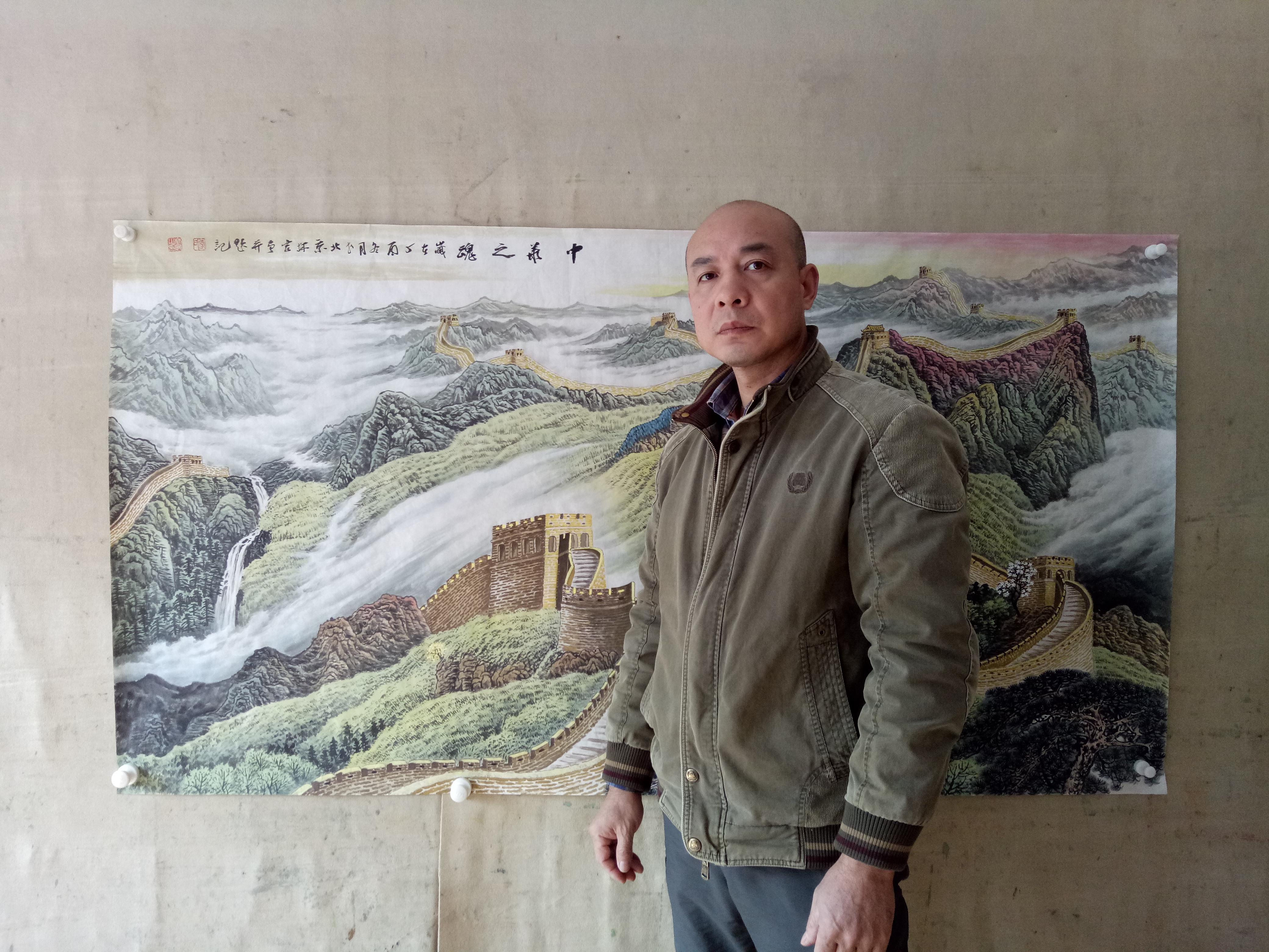 家里挂长城画合适吗?当代名家李林宏国画长城图欣赏
