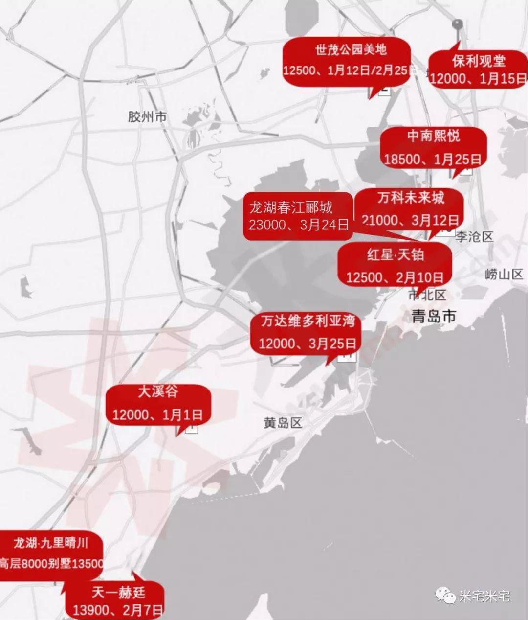 【重磅】第一季度,热点城市清盘项目分布图盘点!