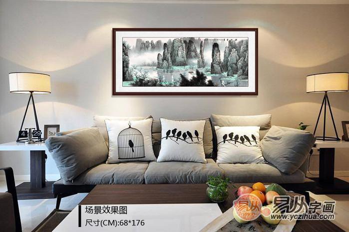 客厅沙发墙选什么挂画好?无论大小也要装的有范儿