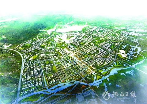 一路向北三水新城的崛起之路 启动区建设已现雏形
