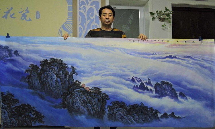 河北这位画家,写意山水画可是一绝