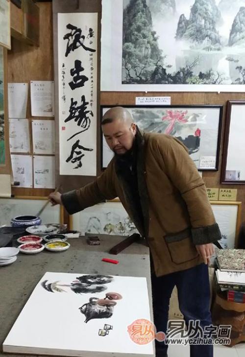 大胡子画家徐坤连,广西走出来的实力派山水画家