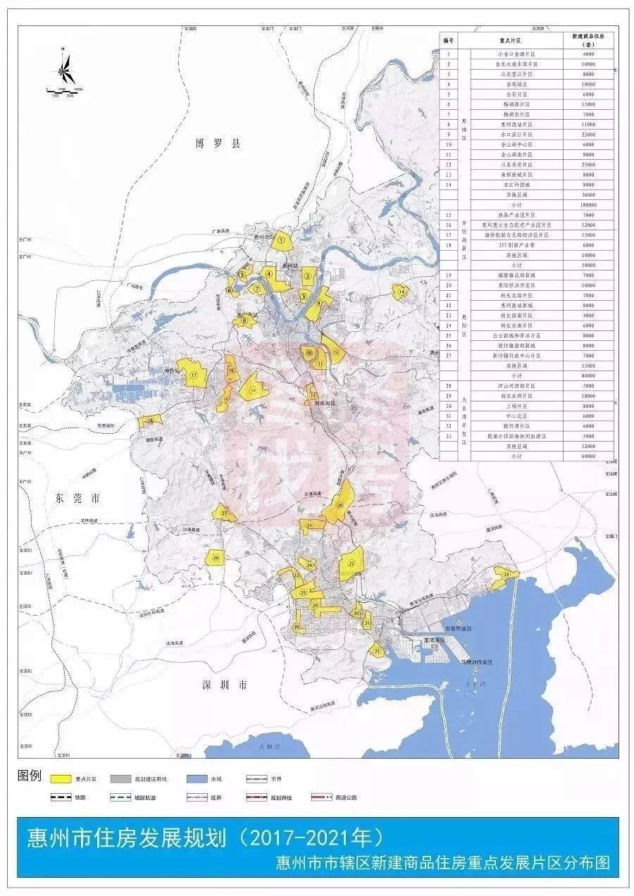 供应减产?!惠州住房规划公布5年新增55万套,推进跨市居住
