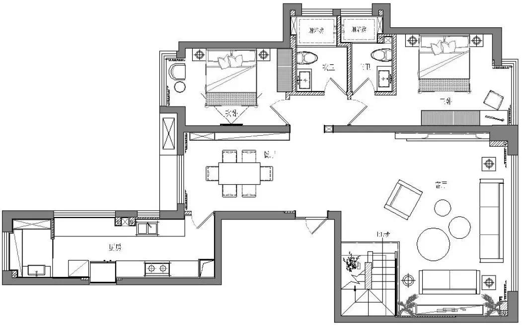 近200m²双层大house,现代生活,舒适,藏不住! 现代 舒适 装修设计 第5张