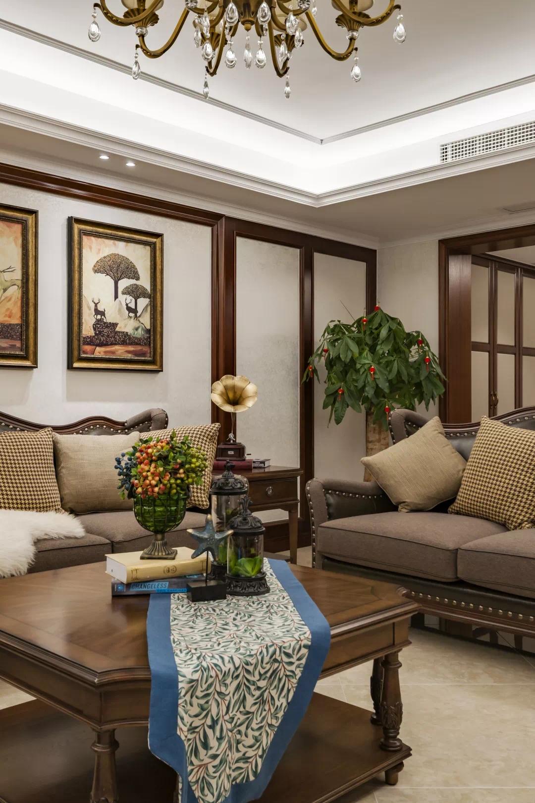 新中式轻奢风格经典设计:一扇门,两个世界,两种生活, 新中式 装修 第5张
