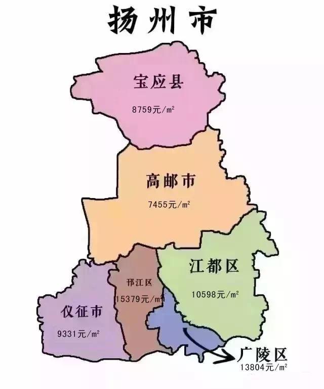7月江苏十三市房价地图出炉,常州房价排第几?