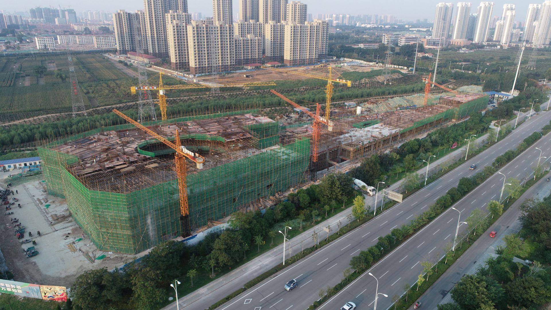 太白湖新区京杭农贸市场主体工程将于年底前完工