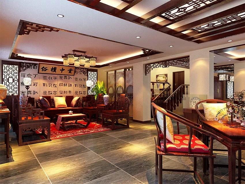 古韵古香 和谐舒适的中式装修别墅